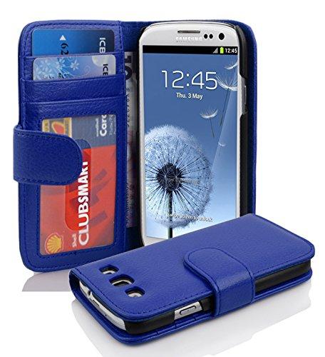 Cadorabo Hülle kompatibel mit Samsung Galaxy S3 / S3 NEO Hülle in KÖNIGS BLAU Handyhülle mit 3 Kartenfächern Case Cover Schutzhülle Etui Tasche Book