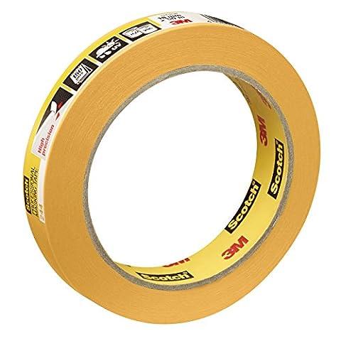 Scotch Super Painter's Masking Tape 18mm x 50m–Expert Plus Quality, Gold, PT24418