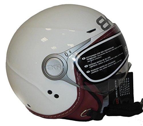 Preisvergleich Produktbild Helm Moto Jet BKR Zwei weiß glänzend Erwachsene Kinder XXS 51 52 cm