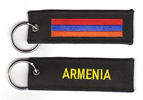 Preisvergleich Produktbild Schlüsselanhänger Armenien Anhänger Fahne Flagge FLAGGENMAE®