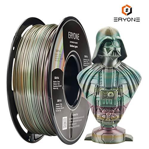 Eryone PLA Filament Lagoonbow, Rainbow Lagoon Filament PLA 1.75mm, Lagoon und Multicolor PLA Filament für FDM 3D-Drucker 1kg 1 Spule