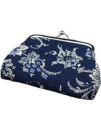 6b60f5e7de Longra Donna Mini borsa blu e bianca della porcellana di vento