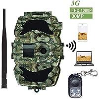 BolyGuard 3G Wildkamera Fotofalle 1080P HD 30MP Dörr Jagdkamera Weitwinkel Vision Überwachungskamera Hinterkamera GSM SMS MMS Infrarote Nachtsicht IP65 Wasserdicht mit Fernbedienung