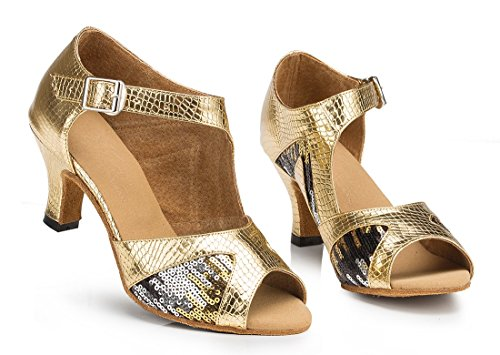 TDA - Peep-Toe donna 6cm Heel Gold