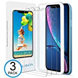 iPhone XR Screen Protector 6.1 inch ( 3 pack, Clear ) iPhone XR Tempered Glass Screen protector, 9H hardness 99.9% transparency iPhone XR Screen Protector 2018