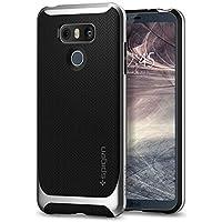 spigen Funda LG G6, [Neo Hybrid] Premium Bumper [Satin Silver] TPU Case + PC Bumper/La adhesión Fina/Botones Metalizados/Protección de Doble Capa - Carcasa/Funda para LG G6