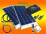 200 Watt Wohnmobil Camping Solaranlage, 12 Volt SET, PV Solarpanel Modul