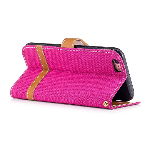 Nutbro iPhone 6S Case,iPhone 6 Wallet Case Denim Pattern PU Leather Scratch-Proof Magnetic Wallet Cover Case [with Card/Money Slots] for Apple iPhone 6/6S BF-iPhone-6-70