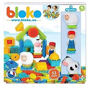 BLOKO 503592 - Estuche de 50 3 Figuras 3D de la Granja - a Partir de 12 Meses - Fabricado en Europa - Juguete de construcción