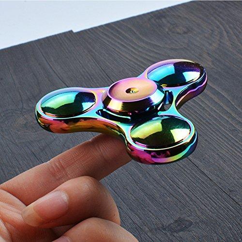 SWAMPLAND Tri-Spinner Fidget Aluminium Hand Spielzeug Stress Reducer - ideal für Töten Langeweile Zeit Erwachsene Kinder Spielzeug -