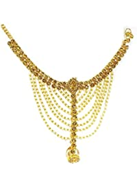 Prime Payal With Toe Ring For Bridal Stone Toe Anklet Golden Pack Of 1