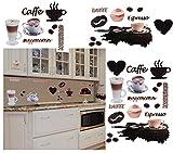 alles-meine.de GmbH 38 Stück: XL Wandsticker -  Kaffee / Espresso - Latte & Cappuccino  - Selbst..