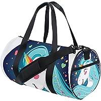 COOSUN - Bolso Bandolera con diseño de Unicornio Brillante para Hombre y Mujer