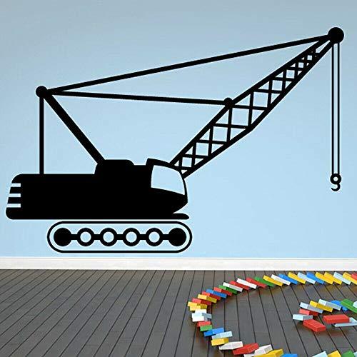 xinyouzhihi Kranbau Wandtattoo Schlafzimmer Vinyl Wandaufkleber Jugendzimmer Dekoration Zubehör Für Wohnzimmer Mo 42x62 cm