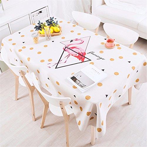 140*180cm beige Rosa Polka Dot flamingo Instagram Tischdecken Baumwolle leinen Esstisch Rezeption rechteckigen quadrat nicht bügeln umweltfreundlich Tischtuch Rot Polka Dot Tischdecke