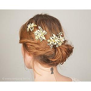Vintage Stil Braut Gold Haarschmuck