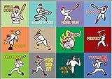 Sticker, Motiv Sportmotivation, 10 Bögen 10-sheets Baseball (10-sheets)