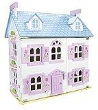 Bella Alpina Casa delle bambole in legno con mobili di famiglia e...