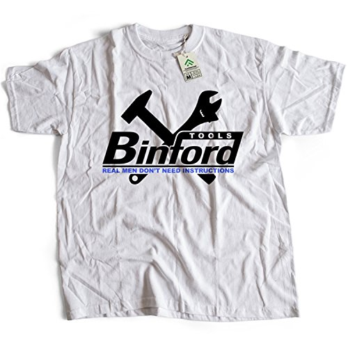 9043w Binford Tools Herren T-Shirt Home Improvement TV Comedy(Large,White)