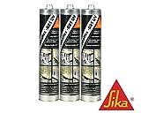 Sparset 3x Sikaflex 521-UV Hybriddichtstoff Wohnwagendichtmasse 300ml Weiß