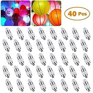 LED Luftballons Lichter ARINO Wasserdichte Ballon Licht Für Papierlaternen, Blumendekor, Hochzeit, Party, Geburtstag, Jahrestags-Feier (40 Stück, Warmweiß-Nicht Blinkend)