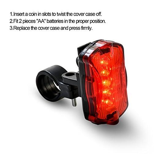 ONEU Luce Bicicletta Set, Impermeabile Ricaricabile Faro e Fanale Posteriore per Bici 3 Modalità di Illuminazione Alta Luminosità 1800 Lm LED Luci per Bici