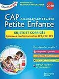 Sujets Corrigés 2019 CAP Accompagnant éducatif Petite Enfance...
