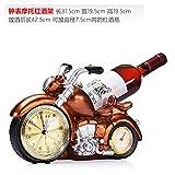 ZJWineracks Continental personalità creative resina vino rosso ornamenti per rack, orologi e Accessori Moto