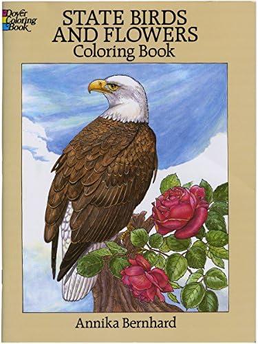 Dover Publications-State Birds & Flowers Coloring Book | Livraison Immédiate