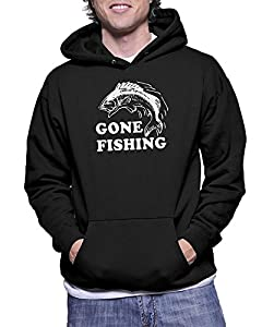 TeeDemon® Gone Fishing Funny Fisherman Gift Hoodie