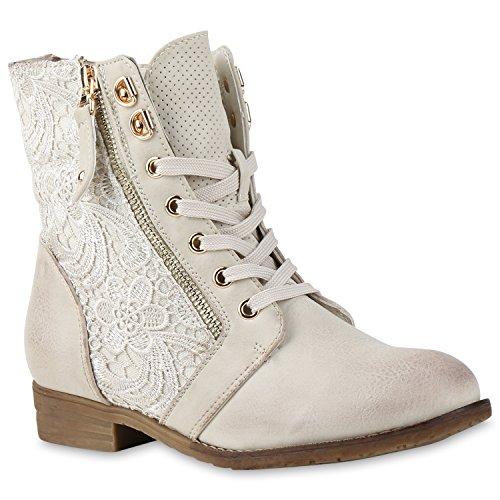 Stiefelparadies - Stivali Donna Crema