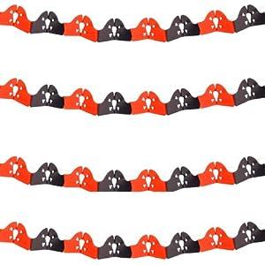 Folat 2M-Guirnalda Pirata en Rojo y Negro para decoración Fiesta o Fiesta temática/