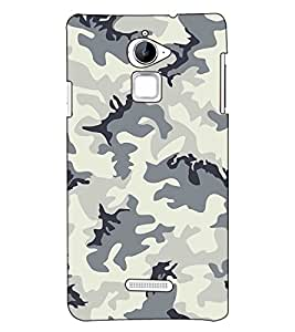 Fuson Designer Back Case Cover for Coolpad Note 3 Lite :: Coolpad Note 3 Lite Dual SIM (Green and grey designer pattern)