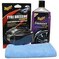Meguiar`s Endurance High Gloss Set inkl.Tire Dressing Pad und Microfasertuch