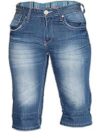 Waooh - Bermuda En Jeans Ourlet Motif Quadrillé Abdel