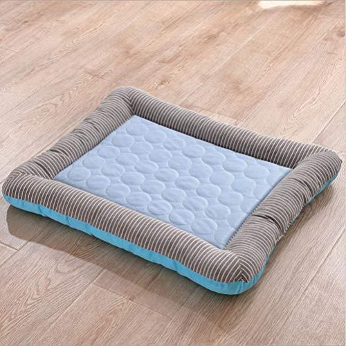 Lrhps Hundebett Schlafsofa für Hunde, wasserdicht, mittel/groß Ideal für den Einsatz in Kisten, Gepäckträgern, Hundehütten,Blue,S45*35cm