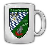 Tasse Schwere Kp GebJgBtl 232 Kompanie Wappen Abzeichen Gebirgsjäger #23305