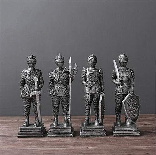 OSRAME Dekorationen Windlicht Geschenke Stil Vintage Harz Römischer Soldat Miniatur Mittelalterlichen Ritter Schwere Infanterie Statue Home Decor Legion Kinder Geschenk
