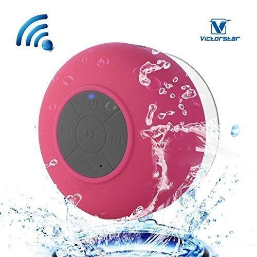 VICTORSTAR Tragbar Kabellos Bluetooth Lautsprecher - IPX6 Wasserdicht, Gebaut - In Mic, Unterstützung 3,5mm Audio Jack - Schwerlast Staubdicht, Stoßfest, Ultra Tragbar, Draussen-Lautsprecher (Wasser-beweis-ipod-player)