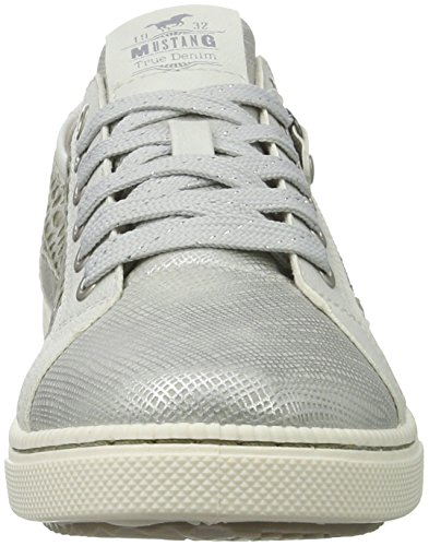 Mustang 5042-303-21, Sneakers Basses Fille Argent (21 Silber)