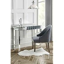 My-Furniture - Consola espejo tocador, efecto burbuja, un solo cajón - demeter