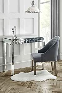 My-Furniture Console/coiffeuse avec tiroir Surface miroir Effet bulles