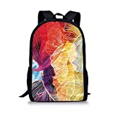 Best Creative Composition Notebooks - haiyingzhiyi School Bags Retro,Abstract Watercolor Artwork Fantastic Elements Review