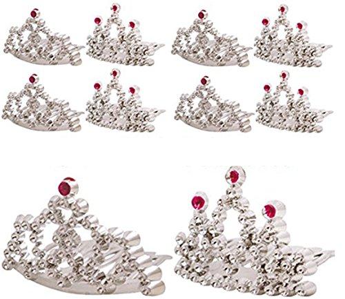 GEO-VERSAND 8 x Mini Prinzessin Krone Spielzeug Tauschgegenstände, mehrfarbig, 100413