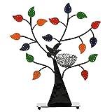 Jewelry Baum w/Bird Nest 48Paar Ohrringe Halter, Armbänder/Halskette Organizer Ständer, metall, mehrfarbig, M