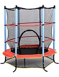 HOMCOM 55 Inch 4.5FT Junior Kids Trampoline with Safety Net Enclosure & Cover Garden Outdoors Round Bouncer Rebounder