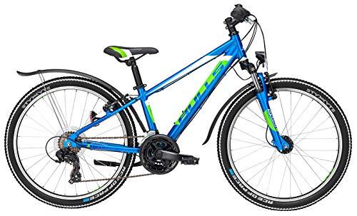 Jugend Fahrrad 24 Zoll blau - Bulls Tokee Street 24 Jungen Bike - Shimano Kettenschaltung, StVZO Beleuchtung