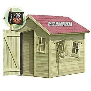 gartenpirat spielhaus marie fun aus holz gartenhaus f r kinder garten. Black Bedroom Furniture Sets. Home Design Ideas