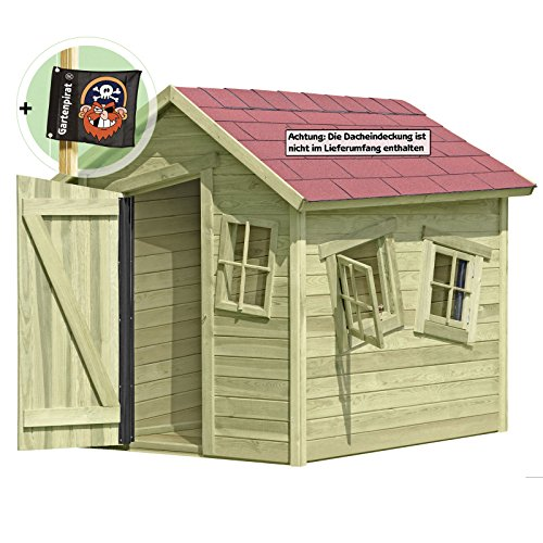 Spielhaus Marie-Fun aus Holz Gartenhaus für Kinder von Gartenpirat®