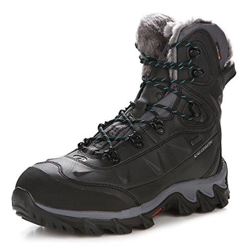 Salomon Nytro Gtx W, Chaussures de randonnée femme black-dark cloud-teal blue